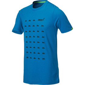 inov-8 Tri Blend Inov-8 T-shirt Homme, blue grid